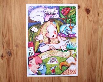 Alice's adventures in Wonderland print