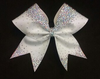 The Bella Bow-Hand-placed Rhinestone Cheer Bow
