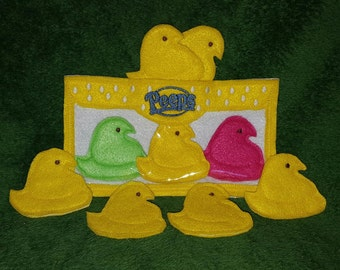 Easter Marshmallow Chicks Finger Puppet Set