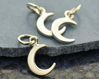 Sterling Silver Tiny Moon Charm