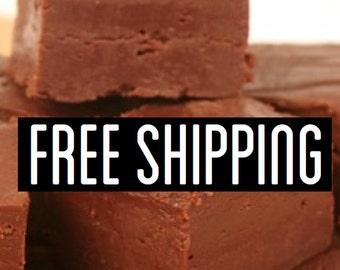 Free Shipping, Milk Chocolate Fudge, Creamy Fudge