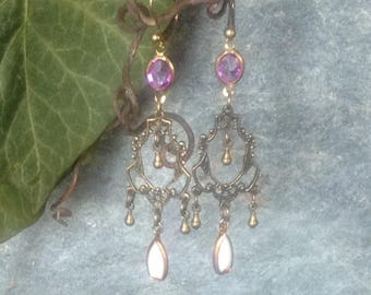 """""""Arsenic and old lace"""" retro earrings Bohemian vintage"""