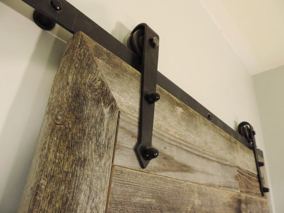 The Bretton Style Rustic Reclaimed Wood Sliding