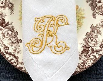 Jewelers Monogram Napkin