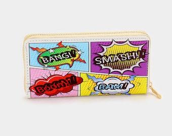 Pop Icon Zipper Wallet