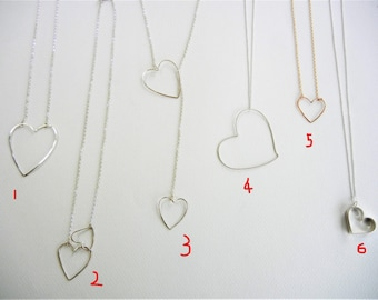 Various heart shape necklaces for your Valentine! See description for details.