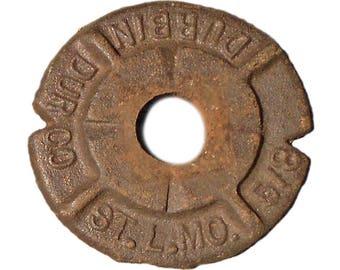 """10 Aged Metal Washers, 2 3/8"""" diameter"""