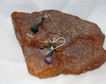 Ruby Zoite and Sterling Silver Earrings