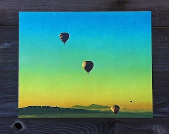 Balloons Over Sonoma California Sunrise - Wrapped Canvas Photo