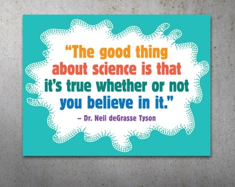 Science is True PRINTABLE Protest Poster | Science March, March For Science, Climate Change, Trump Protest Sign