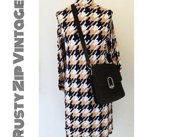 Mary Tyler Moore Mod Houndstooth Shift