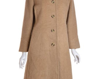 Beige Wool Coat-Zara
