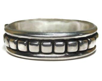 Vintage Mexican Sterling Clamper Bracelet