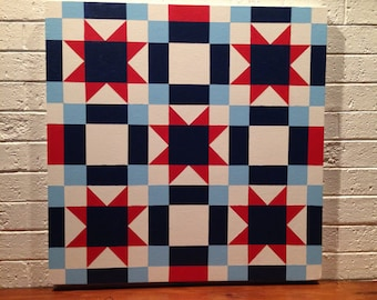 Barn Quilt Hand-Painted 2'x2'