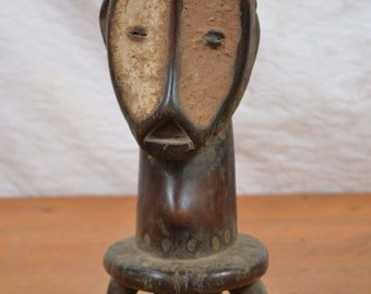 African tribal art,lega statue from Democratic Republic of Congo.