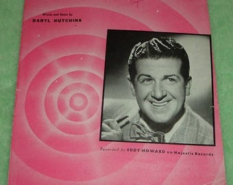 "Vintage 1947 Sheet Music ""I Wonder, I Wonder, I Wonder"" Excellent Condition"