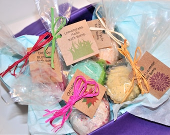 5 Homemade Bath Bombs, Scented Bath Bombs, Gift Bath Bombs, Spa Gift, Gift for Her 5 BATH BOMBS