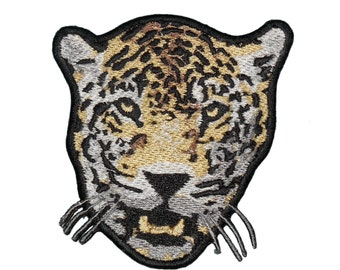 Snow Leopard Wild Animal Wild Cat Embroidered Iron On or Sew On Emblem Patch craft