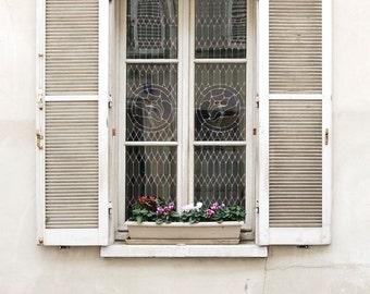 "Paris Photography, ""White Window"" Paris Print, Large Art Print Fine Art Photography, Modern Wall Art, Apartment Art, Gift for Mom"