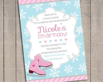 Ice Skate Invitation / Ice Skating Invitation / Ice Skate Party / Ice Skate Invite / Ice Skating Invite / Ice Skate Birthday Printable