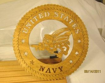 US Navy Seabee Scroll Saw Plaque Hobbyist:-HOB-NTLPO-WOODWO01