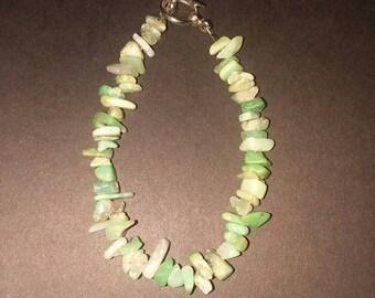 Green opal bracelet.