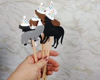 Set of 10 Dog Birthday Drink Stirrers