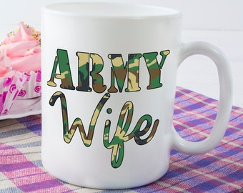 Army Wife Mug, Royal Army Cup, British Army Wedding, Serviceman Marriage Gift, Soldier Wife Mug, I Love My Soldier, Military Wife Gift