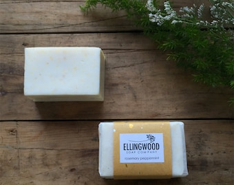 Rosemary and Peppermint cornmeal scrub bar - cold process