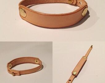 Single Cuff Leather Bracelet