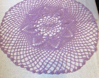 Lavender Sparkle Doily