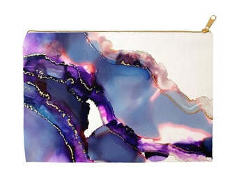 Accessory Pouch - Aura Collection - clutch - handbag - geode art - Mother's day gift - bridesmaid gift - wristlet - boho fashion accessories