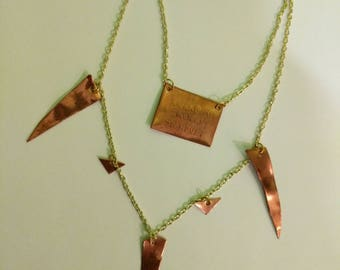 Etched Copper Necklace
