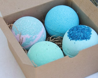 Bath Bomb Gift Set, Bridesmaids Gift sets, Set of 4 Gifts,Spa Gift Sets, Valentines Day Gifts, Christmas Gifts, , Party favors,