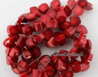 Natural Coral,100pcs One Full Strand,Teardrop coral beads,Coral Beads,Red Coral Beads,Red Stone,Gemstone Beads-10*17mm-15 inches-BC020