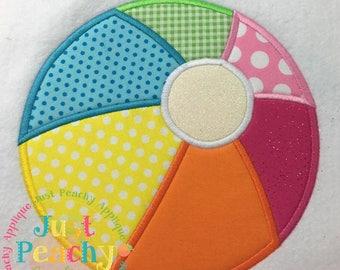 Beachball Machine Embroidery Applique Design