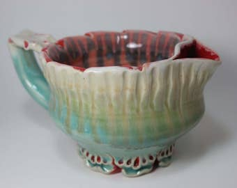 Shaving Scuttle Bowl Shave Dish Ceramic
