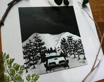 Alien from the stars Print