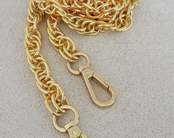 """Prince of Wales Chain - GOLD Chain Handbag Strap - 12"""" to 52"""" (inches) Lengths - 1/2"""" (.5 inch) Wide"""