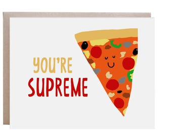 Pizza Card, Funny Congratulations Card, Pun Pizza Card, Congratulations Card