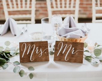 Mr and Mrs Signs, Mr and Mrs Chair Signs, Mr and Mrs, Mr Mrs Table Sign,  Wooden Wedding Signs, Mr Mrs signs, Mr Mrs chair signs