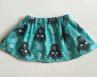Baby girl / toddler sugar skull Darth Vader skirt