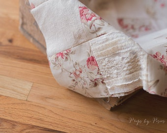 Newborn Prop Layer - Patchwork Quilt Layer, Newborn Layer, Sitter Layer