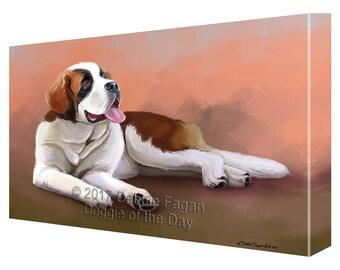 Saint Bernard Dog Canvas Wall Art
