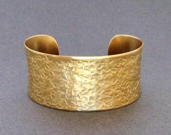 Gold Cuff Bracelet Hammered Brass Bangle Bracelet Ancient Egyptian Jewelry Greek Jewelry Artisan Handmade Boho Chic Seventh Willow Jewelry