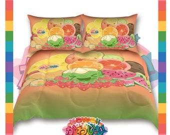 Univers kawaii - Cute classique Fruits groupe créateur couvre-lit