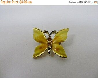 On Sale Vintage Rhinestone Enameled Butterfly Pin Item K # 1502