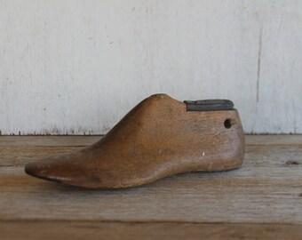 Antique Wooden Shoe Form Mold