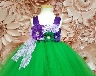 Green Tutu Dress-Green Wedding Tutu Dress-Green Tutu Dress-Green Flower Girl Tutu Dress-Green Flower Girl Tutu Dress-Green Birthday Dress.