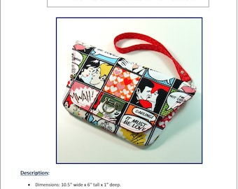 Bag Pattern - Convertible Clutch Purse Wristlet - PDF Instant Download by Crimson Cuttlefish